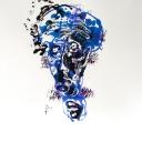 Portrait bleu N°2 - A3 - 2017