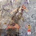 Ardeur de Gaulois 100x100cm 2013 acrylique sur papier marouflé sur toile