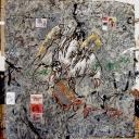 Délire de Dominicain 100x100cm acrylique sur papier marouflé sur toile 2013