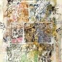 La Vie des Champs pigments et acrylique sur papier marouflé sur toile 100x86cm 2014