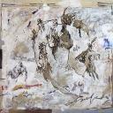 Secret de Famille 80x80cm acrylique sur papier marouflé sur toile 2013